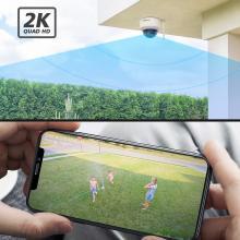 Foscam D4Z, 4MP Dual-Band WiFi PTZ camera (zwart)