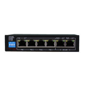 PS106G - 4+2-poort Gigabit PoE switch