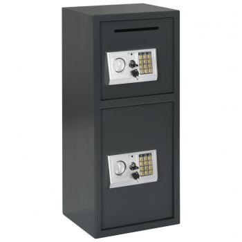 Kluis digitaal met dubbele deur 35x31x80 cm donkergrijs